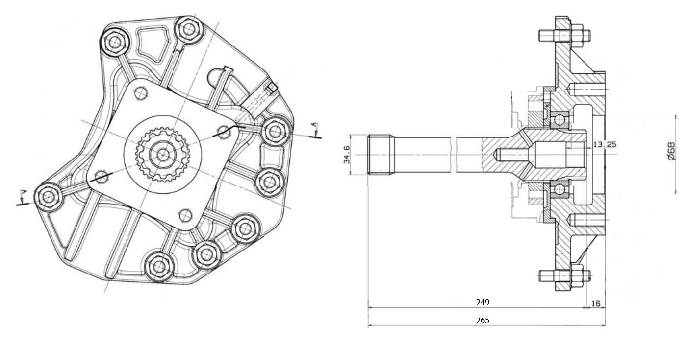 Вал отбора мощности STOTON 249mm Mercedes G210, G211, G221, G231, G240, G260, G280, G281, G330
